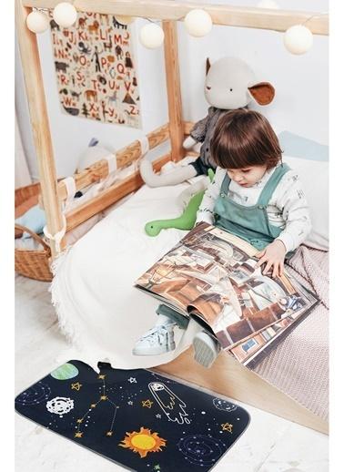 Hamur Bebek Çocuk Ev İçi Kapı Önü Paspası 50x75 cm Space Oyun Matı Renkli